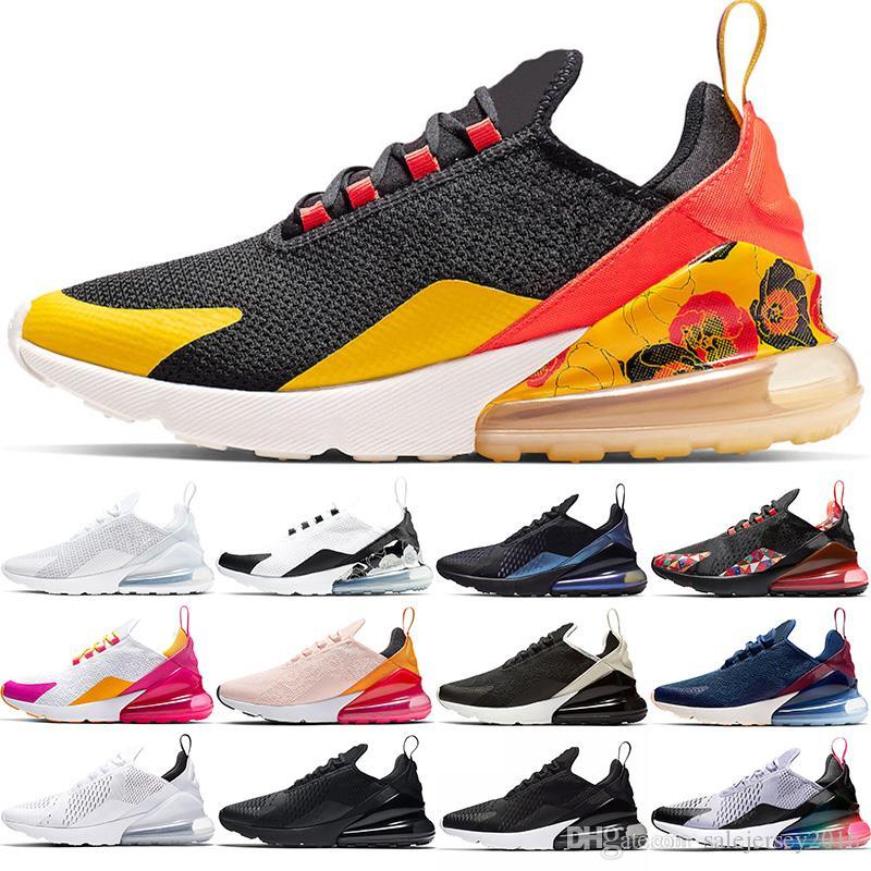 Compre Nike Air Max 270 Zapatillas Baratas Hombre Mujer Negro Blanco  Regency Púrpura Oreo CNY Bruce Lee Hombre Entrenador Outdoor Sport Sneaker  Tamaño ...
