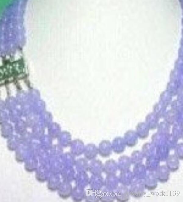 Halskette Charming NATURAL PURPLE JADE NECKLACE Free