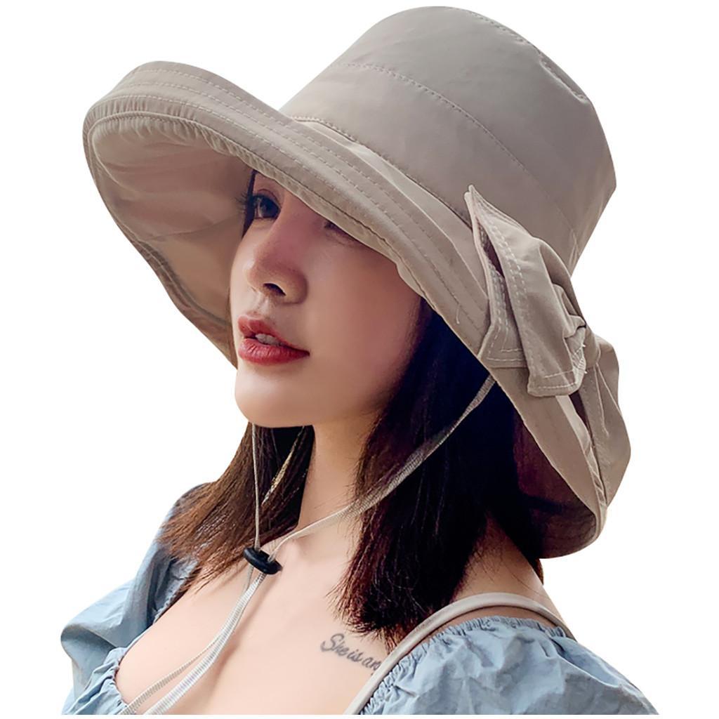 Eleganter Fischer Fischerhut Frauen Big Bow-knoted Adjustable Sommer Cap Weit Brimed Damen Sonnenschutz Angeln Hüte Gorra # 15