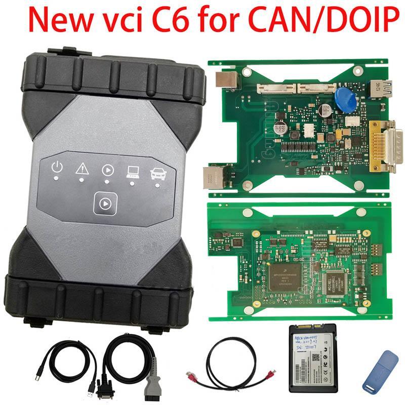ميغابايت نجمة C6 مع الكمبيوتر المحمول CF-19 DOIP الدعم يمكن / VCI التشخيص أداة الخليط ثان ميغابايت نجمة C4 SD ربط استعداد للعمل C3 / 4 مبرمج
