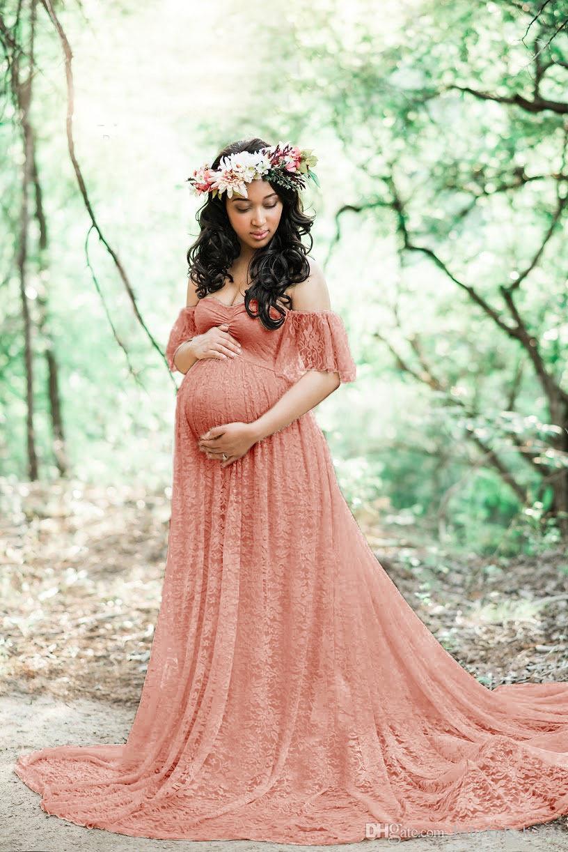 maxi fotografia Abito premaman da donna in chiffon premaman infermieri per matrimoni elegante per maternit/à serate