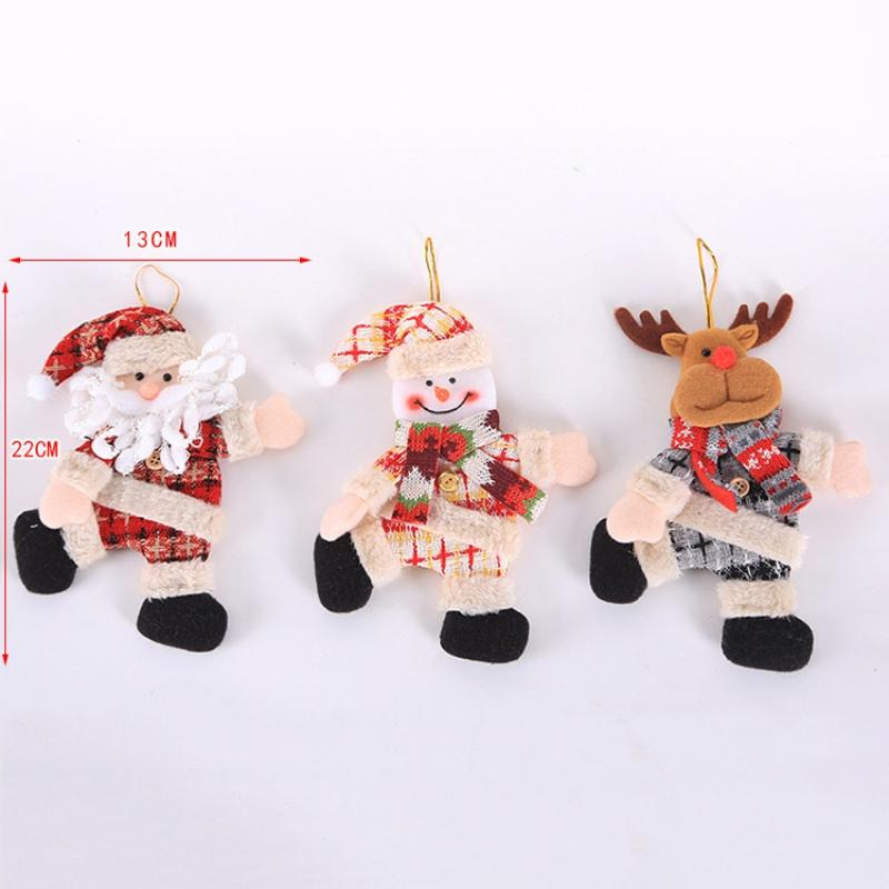 Christmas Doll Decorative Hanging Pendant Mini Dancing Doll Santa Claus Drop Ornaments