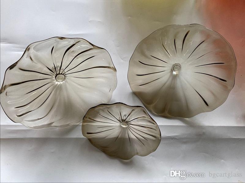 Самые популярные итальянский дизайн выдувные стеклянные пластины Fancy светодиодные декоративные настенные светильники итальянский современный стиль муранского стекла Люстра потолочная
