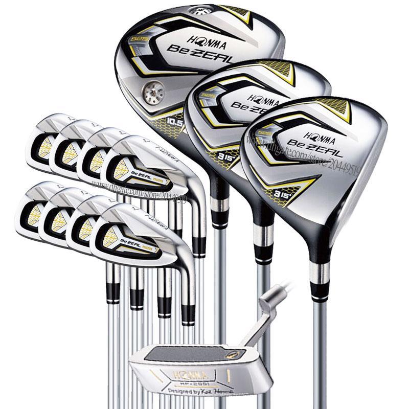 clubes de golf nuevos hombres HONMA BEZEAL 525 Juego completo de hierros conductor palos de golf Putter golf fijado eje del grafito y el envío libre de cubierta para la cabeza