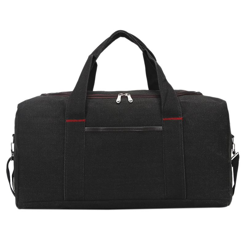 Viaggi Uomini Trolly Bag di grande capienza Donne Travel Bag bagagli Sport Fitness borsa Duffel Borse Nero