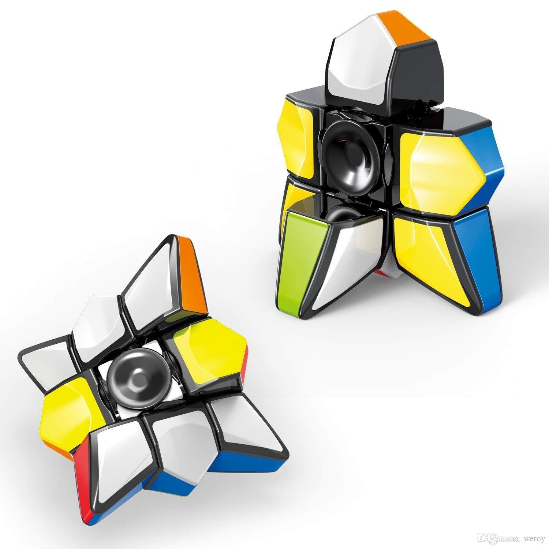 Brain Teasers Magic Puzzle Cubes Smart Toys for Boys Girls Smooth Cube Stickerless 1x3x3 Ganowo Fidget Toy Floppy Cube