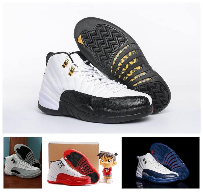 Lüks 12s Basketbol Ayakkabıları Yeni Şık ovo Erkekler için Siyah Beyaz Gym Kırmızı Mavi Bej Yeşil 12 12s Spor Ayakkabı Bred