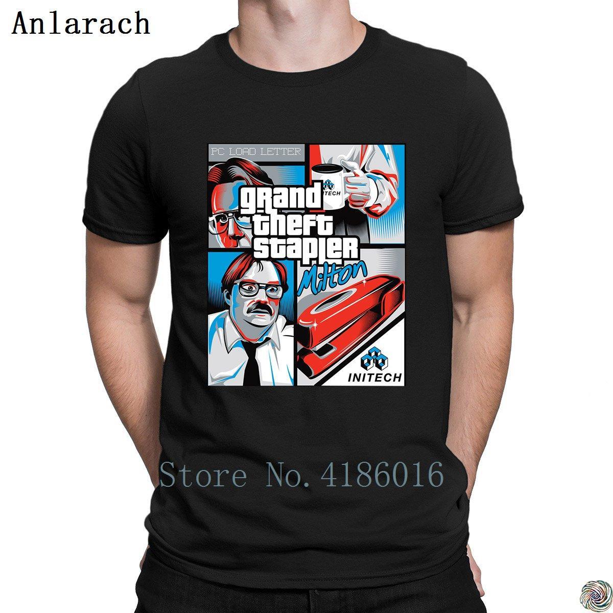 Grand Theft t-shirt grampeador Pop Top Tee Customize Camisa bonito confortável t para os homens traje Tendência 2018 tamanhos Anlarach grandes