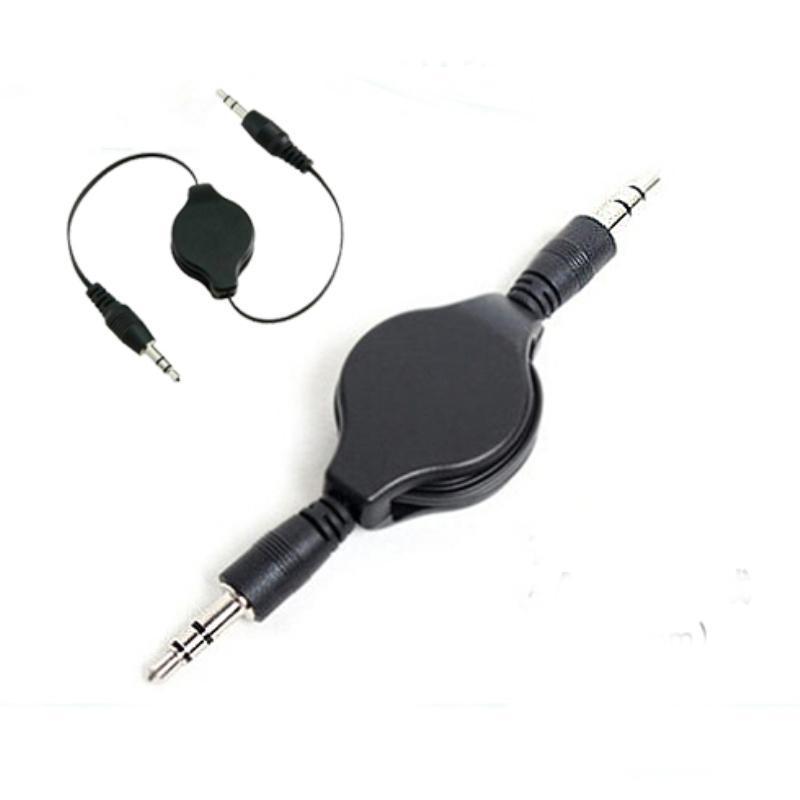 100шт 3,5 мм Aux мужчина к мужчине вспомогательный выдвижной стерео разъем аудио кабель удлинитель для mp3 mp4 DVD