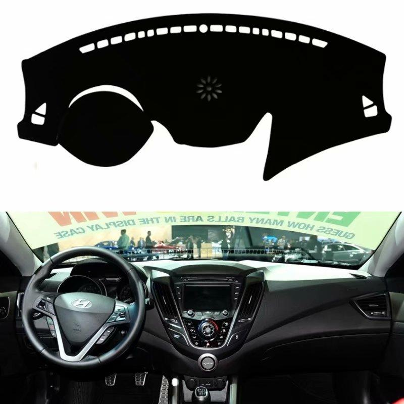 Pour Veloster 2011 -2018 Car Styling Couvre Dashmat Dash Mat Sun Shade Dashboard Couverture Capter 2012 2013 2014 2015 2017