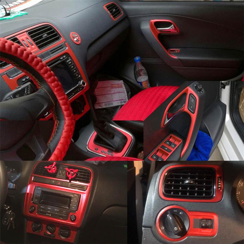 İçin Volkswagen VW POLO MK5 2011-2018 Kendinden yapışkanlı Araba Etiketler 3D 5D Karbon Elyaf Vinil Araç çıkartmaları ve Çıkartmaları Araç Şekillendirici Aksesuarları