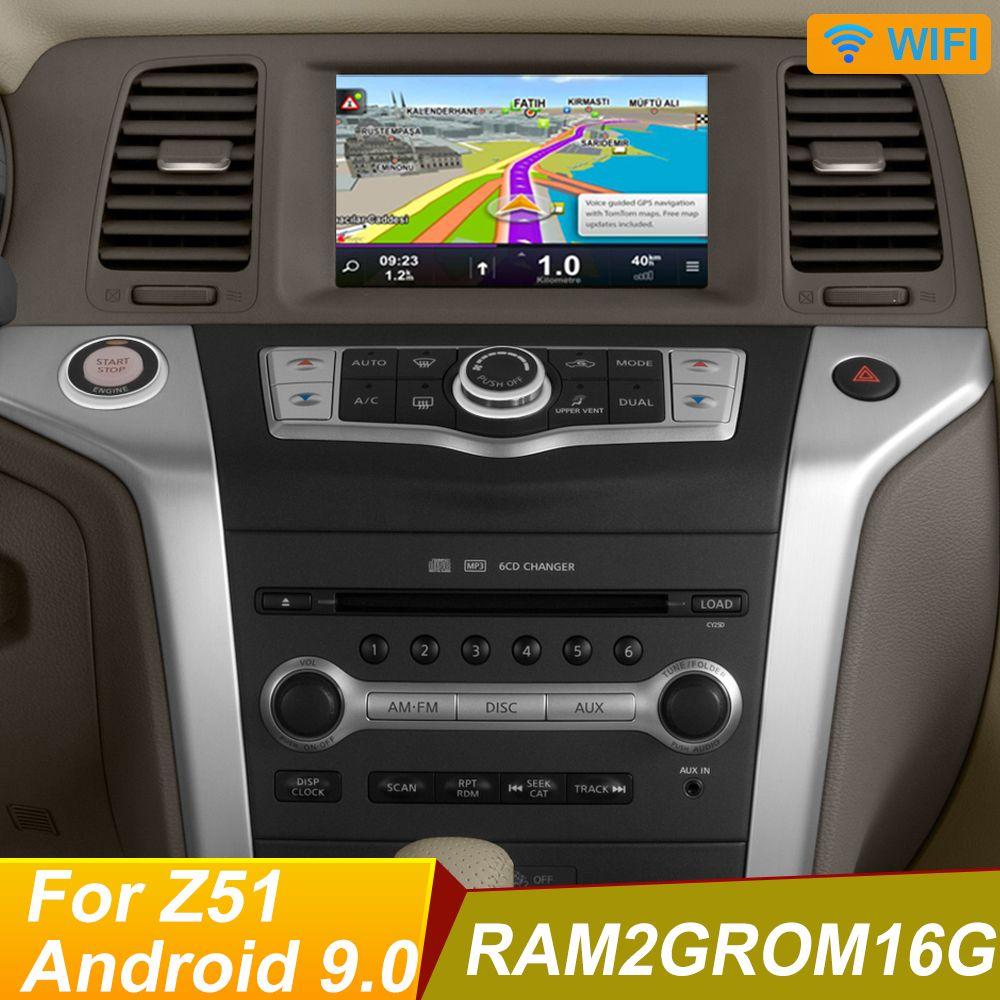 Android 10,0 DVD do carro para NISSAN Murano Z51 2009 2010 2011 2012 2013 2014 Navegação GPS Stereo BT AUX