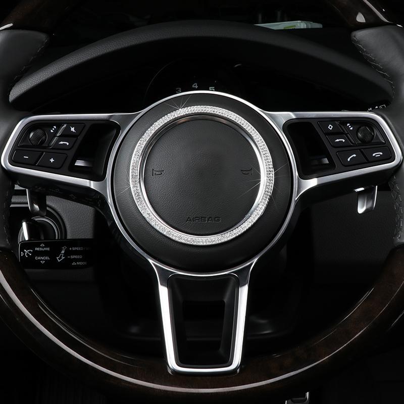 자동차 스타일링 스티어링 휠 엠 블 럼 장식 3D 커버 스티커 포르쉐 마칸 Panamera 718 새로운 Cayenne