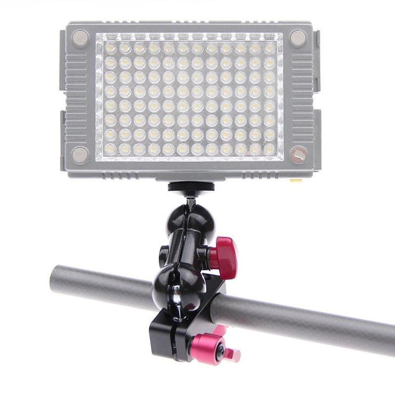 Rod Clamp+ 14 Hot Shoe Adapter 360 Rotating Monitor Mount for DSLR Camera DJI Ronin-M Handheld Gimbal LED Flash Light C1169 (4)