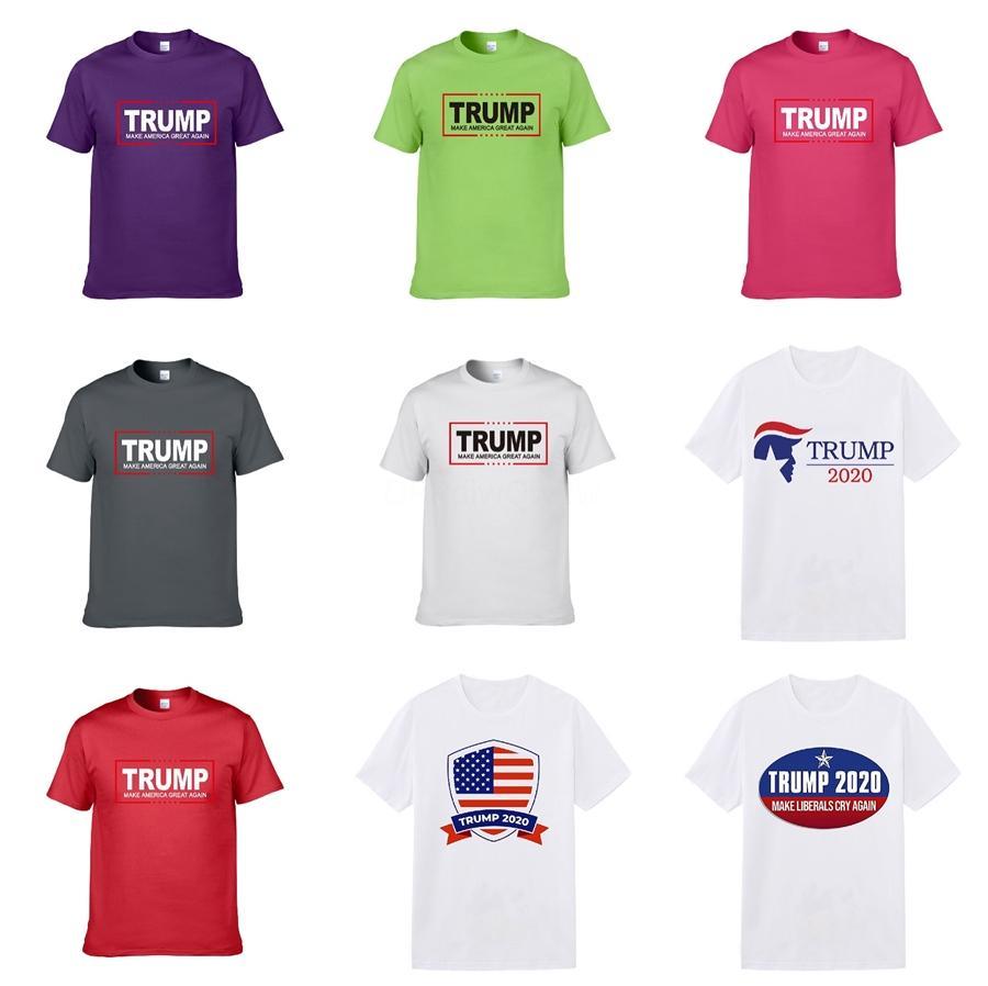 Роскошные Лето Trump футболки Black White Mens конструктора Футболка с коротким рукавом Мужчины Женщины Unisex Дизайнерские рубашки Размер S-XXL # 446