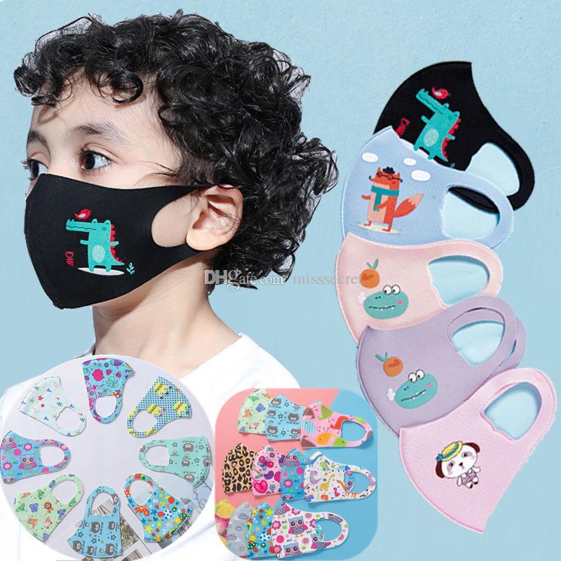 En stock Cartoon 3D Design Masque visage pour la bouche Enfants Couverture Masque Respiratoire Masques anti-poussière Anti-bactérien lavable design réutilisable