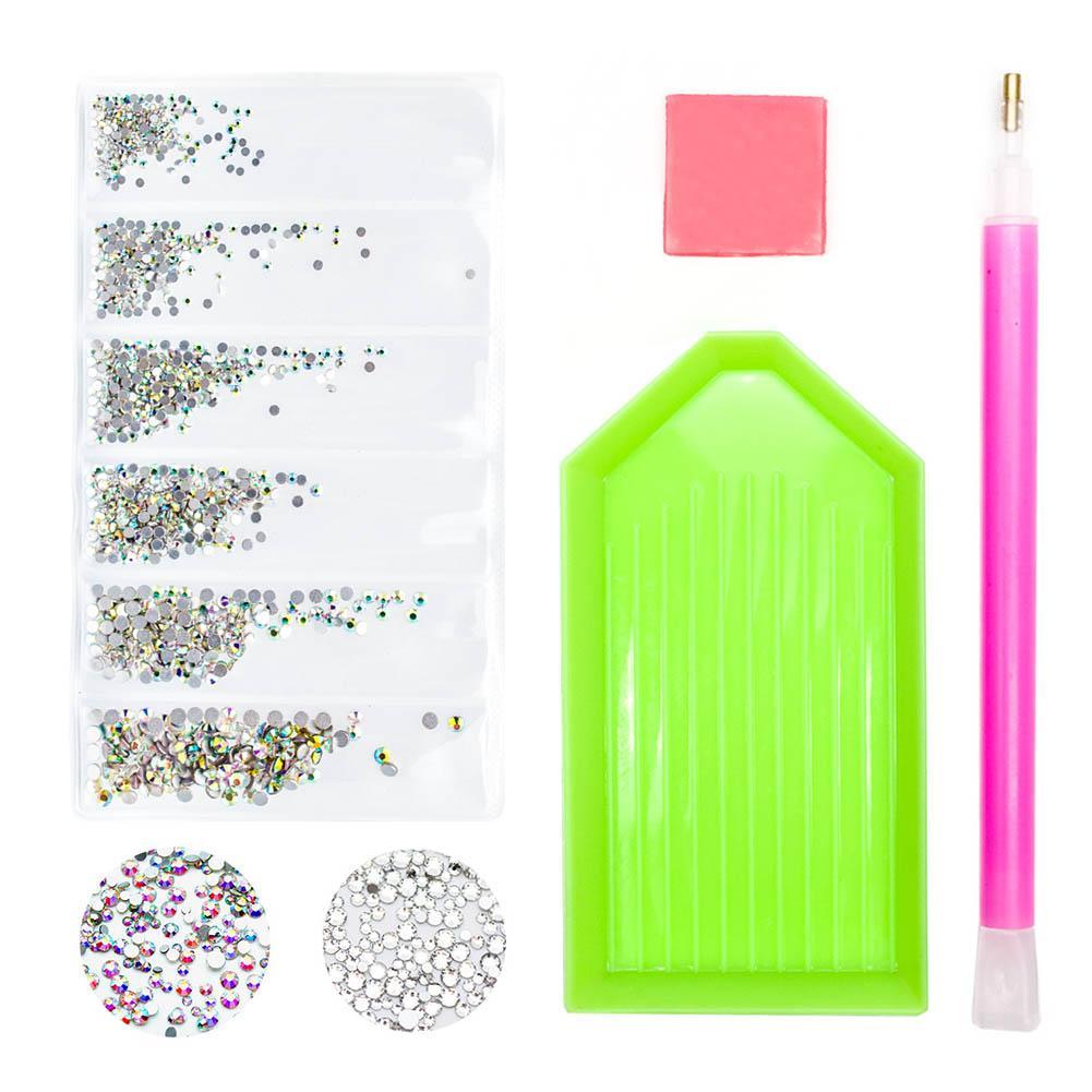 Schönheit Gesundheit 1440pcs Glasstrass SS3-10 Strass Nail Art Dekorationen Strass Nail Steine für Nägel Zubehör TZ1002