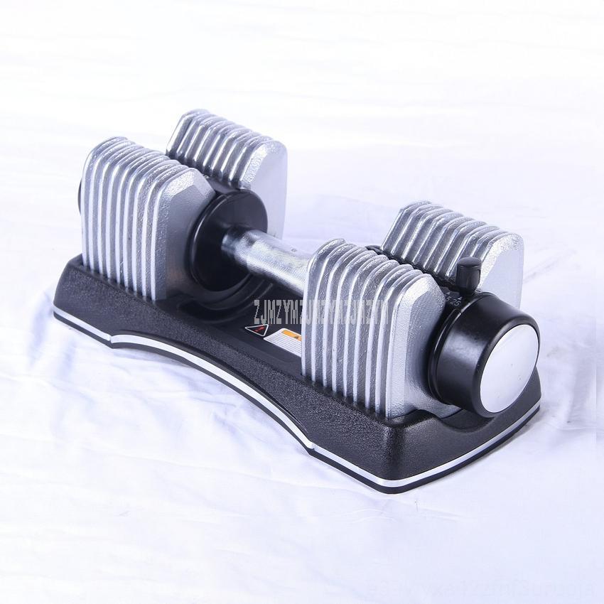 1PC 50LB قابل للتعديل الدمبل السريع لوازم الوزن معدات اللياقة البدنية قابل للتعديل للرجال بممارسة معدات التدريب الذراع قوة العضلات Fitn
