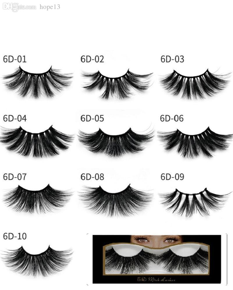 Newest Mink eyelashes makeup 6D mink lashes Soft Natural Thick Cross Handmade with pack 25mm Premium High Quality DHL shipping