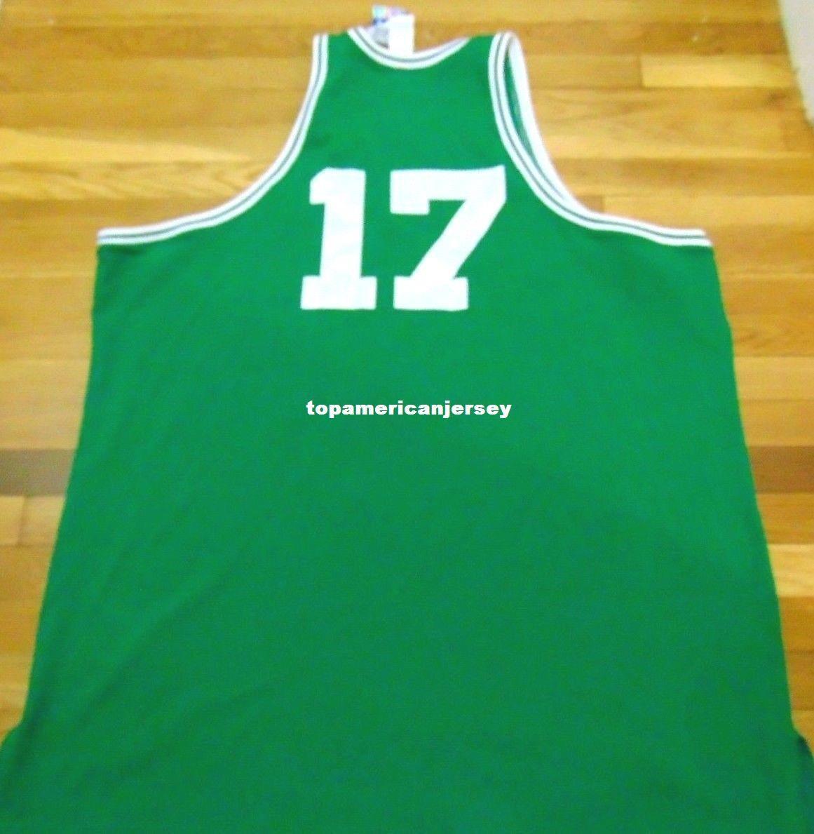 Джон Havlicek # 17 объявление высокое качество отставной игрок топ Джерси мужской жилет размер XS-6xl сшитые баскетбольные майки Ncaa