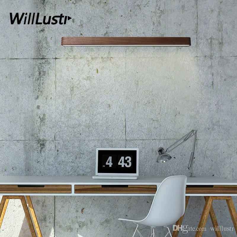 Willlustr الخشب أدى الجدار مصباح الحديثة الشمعدان الأسود الجوز فنلندا الصنوبر غرفة المعيشة مطعم الفندق اليابان نمط الإضاءة