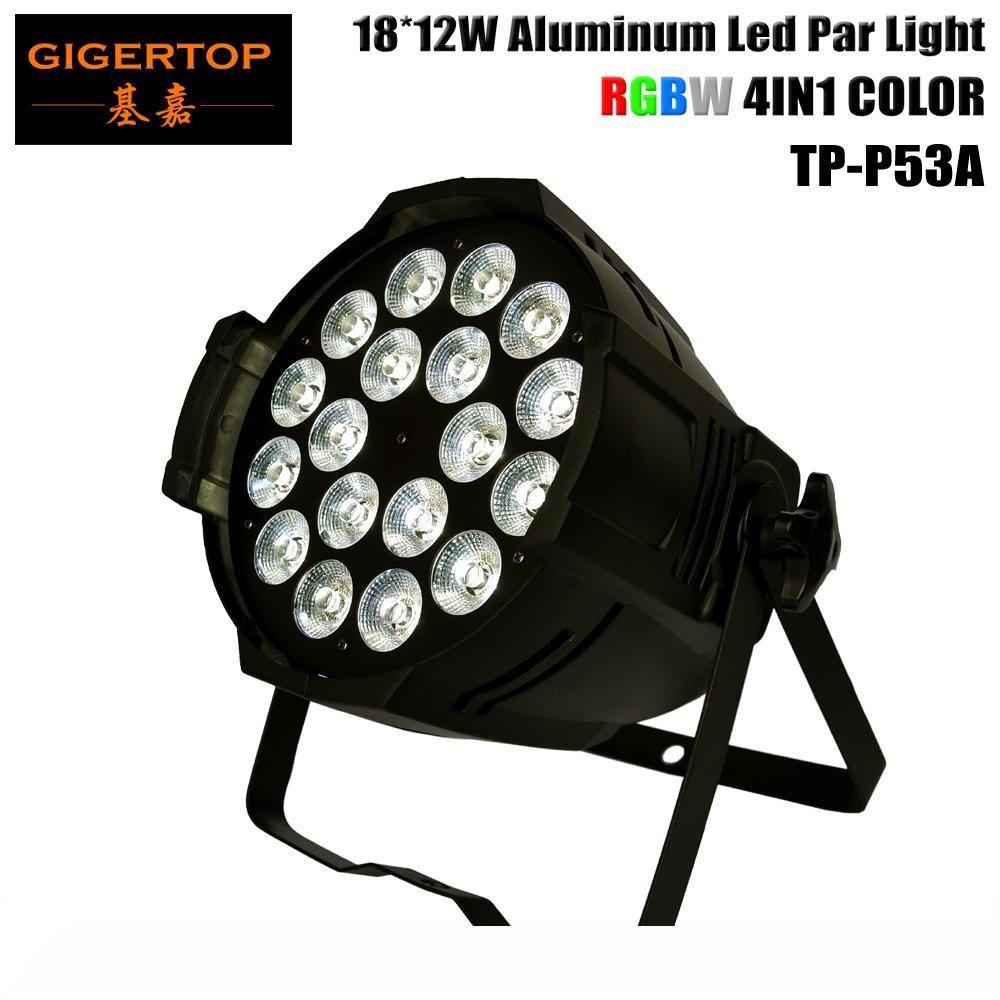 Profesyonel RGBW 4in1 18x12W LED Par Işık 40 Derece Büyük mercek 4 8 Kanal 90-240V DMX512 için Club Bar DJ Sahne Parti Disco Düğün TP-P53A