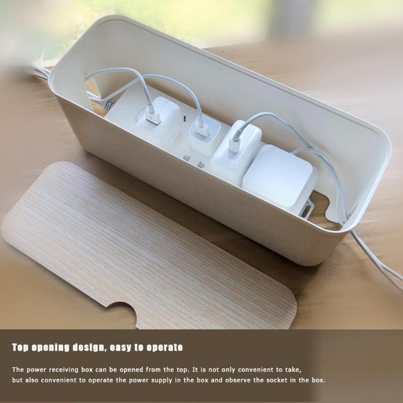 Cable Storage Box Power Strip Wire Case Anti Dust Charger Socket Organizer Desktop Network Line Storage Bin
