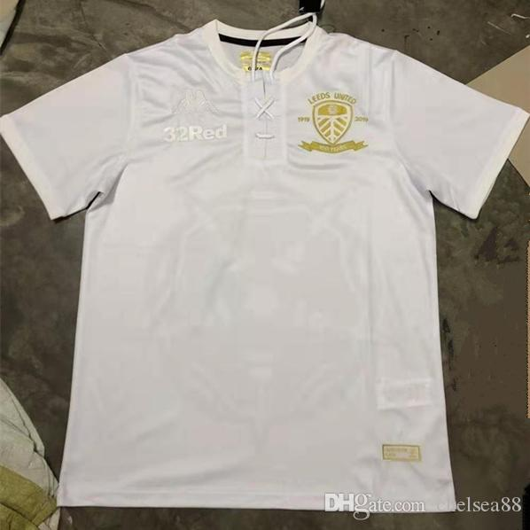 19 20 ليدز يونايتد 100th الذكرى قميص COSTA تحتفل الذكرى المئوية لكرة القدم جيرسي 2020 ليدز CLARKE الأبيض 100 سنة لكرة القدم بالقميص XXL