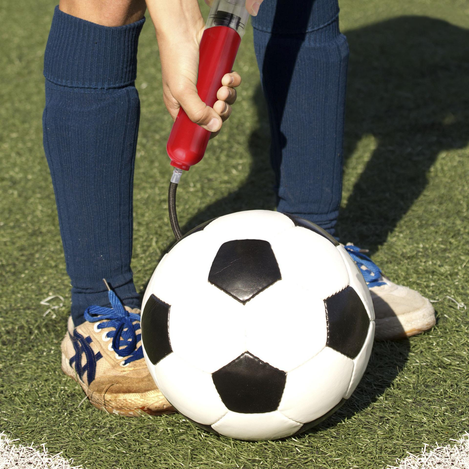 Minihandluftpumpe im Freiensport-Fußball-Basketball-Ball Inflating Tragkraftspritze für Kugel Kunststoff aufblasbare Kugel Luftpumpe