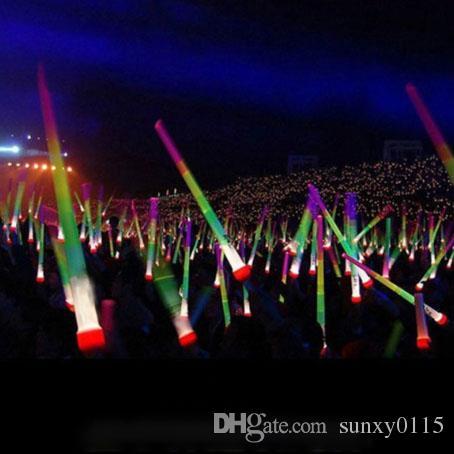 Nuevo precio bajo Telescópico Glow Sticks Flash Light Up Toy Fluorescente Espada Concierto de Navidad Carnaval Juguetes 40 unids / lote envío gratis