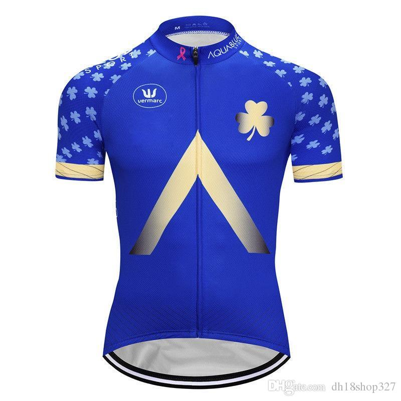2019 Aqua Blue CAPO Pro team Cycling Short Sleeves jersey 2019 New Comfortable Breathable Men Summer Cycling clothes clothing 304517k