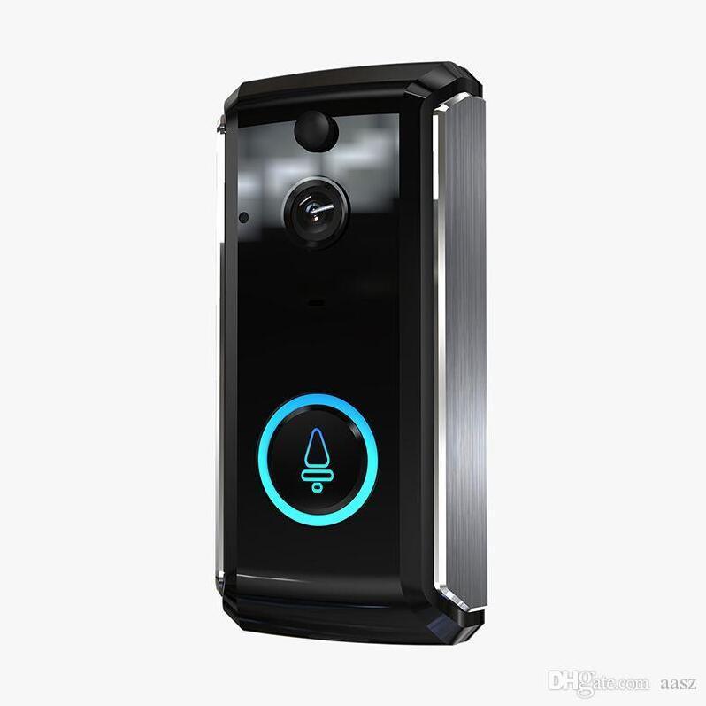 M101 Smart Home Video-Türklingel 1280p HD für WLAN-Verbindung Echtzeit-Videokamera Zwei-Wege-Audio-Linse Weitwinkel Nachtsicht PIR-Bewegung