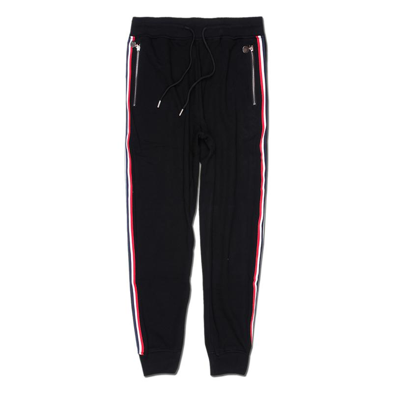 Новое прибытие Mens стилиста Брюки мужские высокого качества Zipper Брюки Мужчины Женщины Мода повседневные брюки черный Jogger