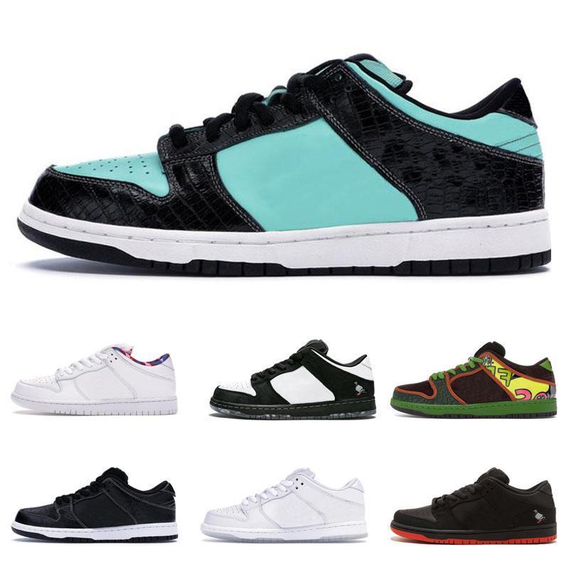 SB Dunk blanc chaussures d'extérieur Hommes Femmes travis Scotts sb dunks bas Raygun Tie Dye 2020 VALENTINE DAY nouvelles baskets concepteur formateurs