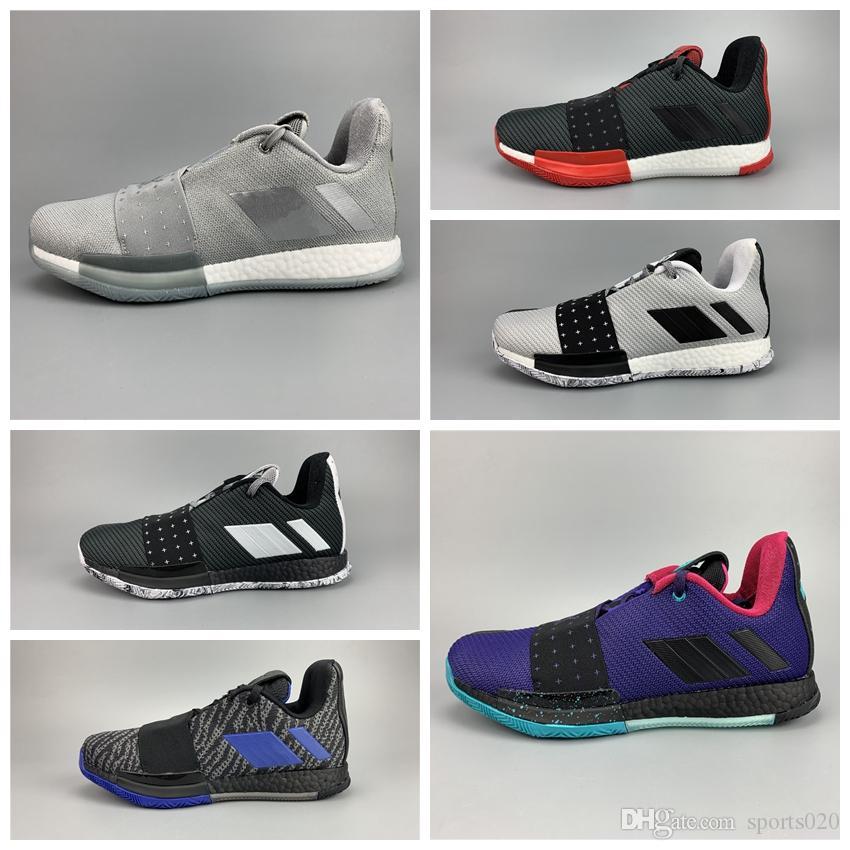 Nike Air Jordan 2019 Neu Kommen Harden 3 Vol.3 BHM Begrenzte Blaugrün Sportschuhe Billig Verkauf 3S One Herren Training Sneakers Größe 40-46