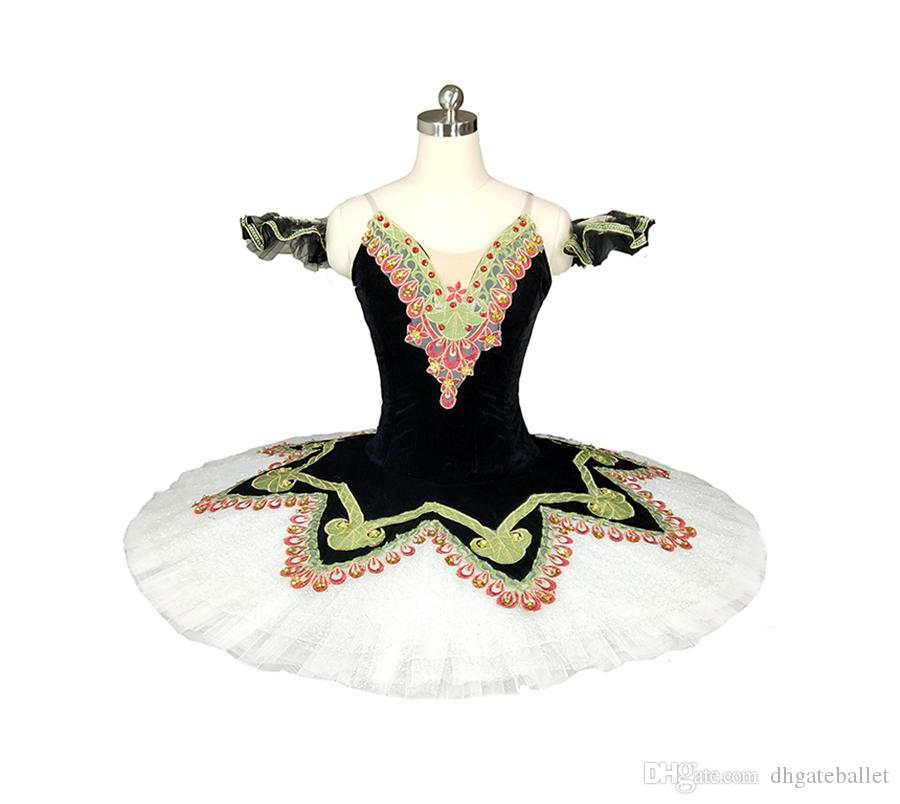 Women Nutcracker Performance Dress With Black White Tulle Girls Custom Made Competition Paquita Professional Platter Pancake Tutu For Child