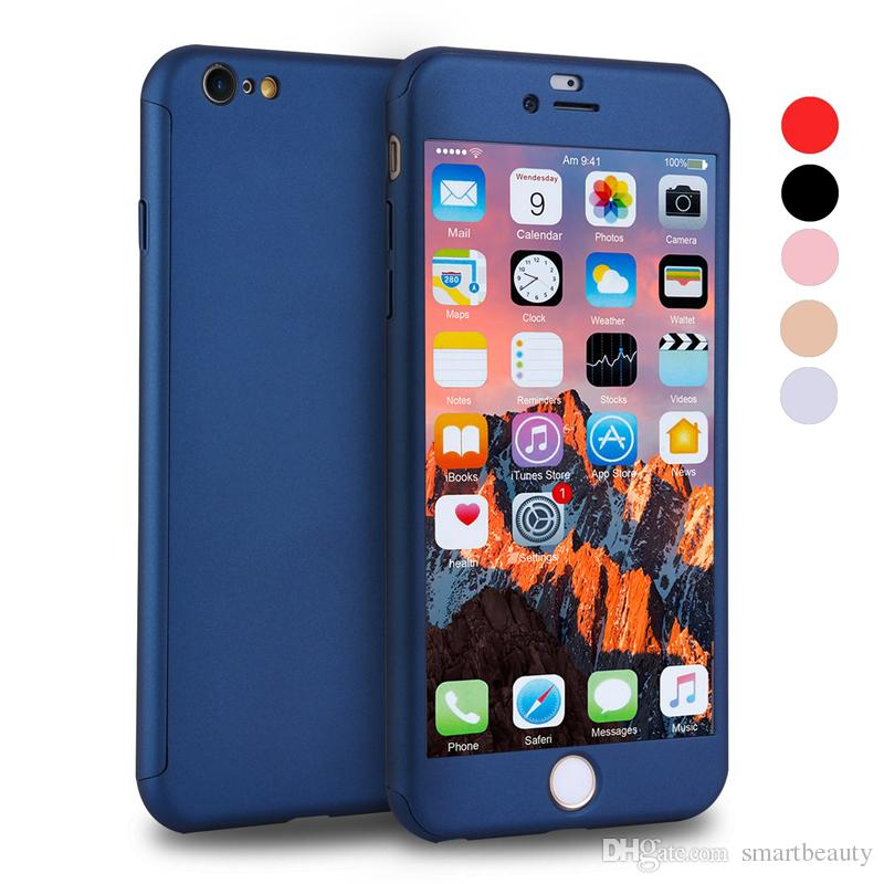 Full Cover 360 Degree Matte PC Phone Case for Iphone 11 Pro XS 8 8 Plus with Screen Protector Full Cover Cases