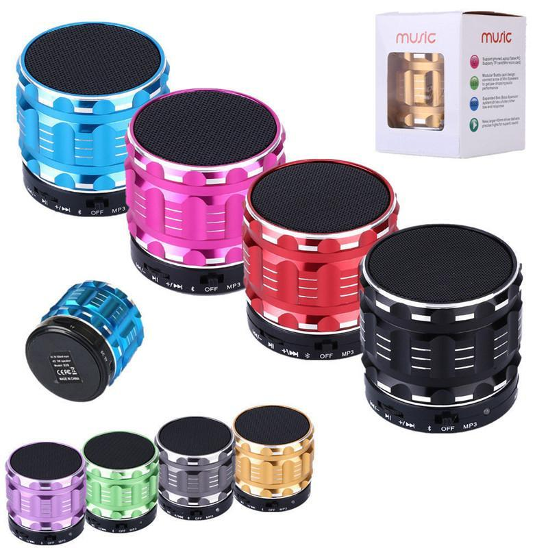 20pcs Portable Mini Bluetooth Metal Steel Wireless Smart Hands Free Speaker FM/SD supported
