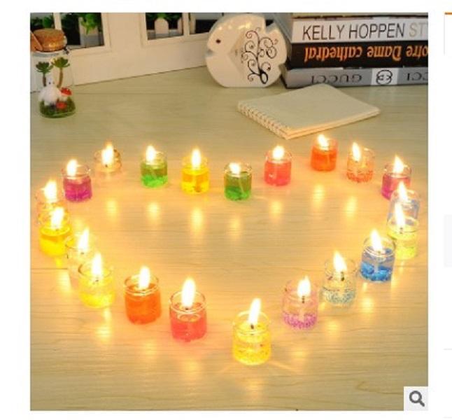 2020 venda Candlelight quente de geléia 24 conjuntos de criativo Sonho oceano romântico romance velas jantar à luz de velas Europeia