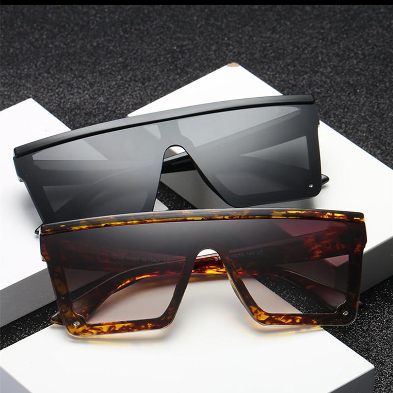 Gafas De Sol De gran tamaño cuadrado marco plano superior nueva moda Gafas De Sol mujeres hombres Retro Gafas De Sol Gafas De Sol