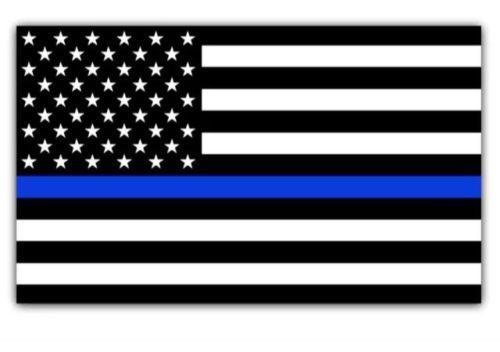 Bandiera della decalcomania auto blu Abita questione di polizia USA americano Thin Blue Line