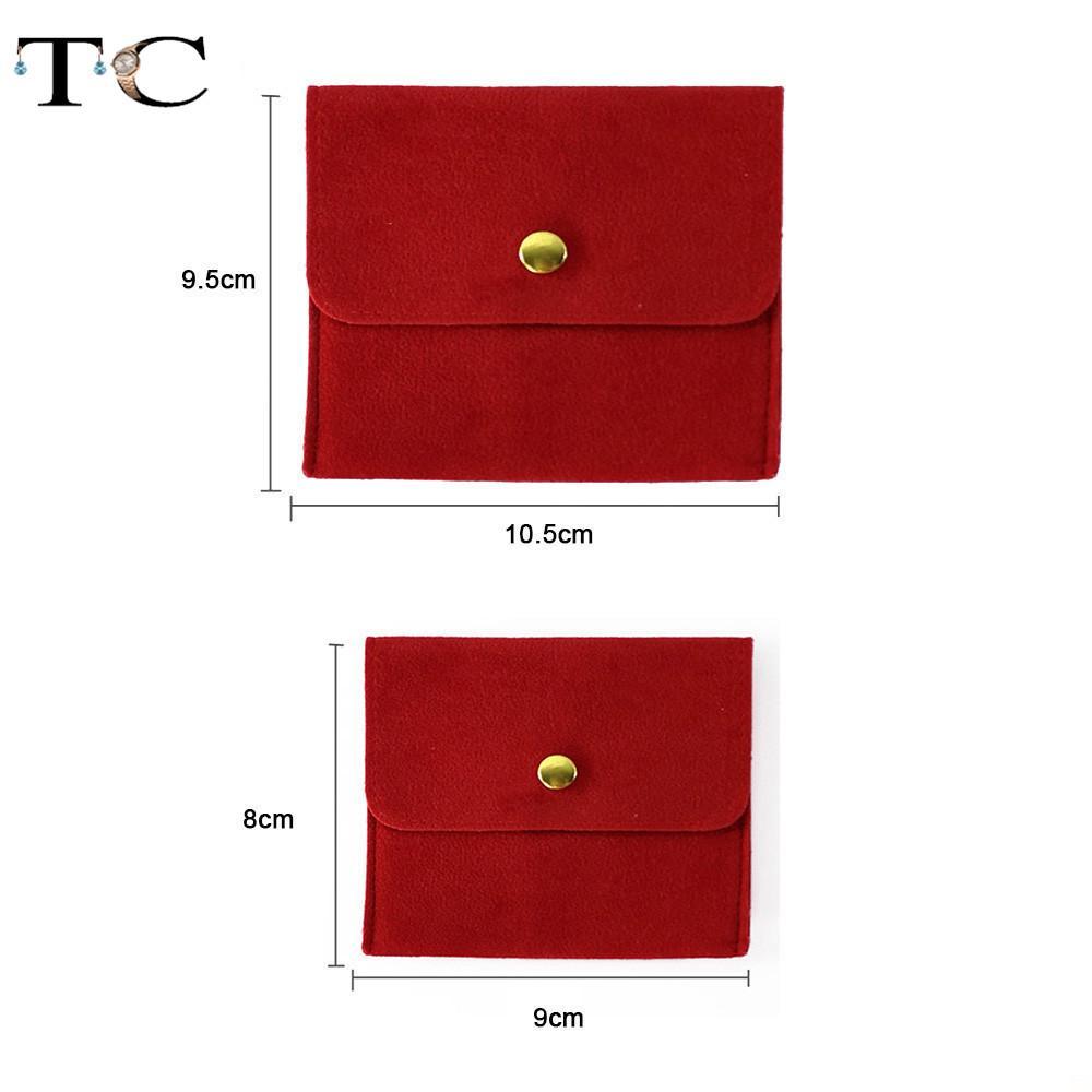 Joyería del terciopelo rojo bolsa de almacenamiento de accesorios Mini Bolsas del regalo Collar Anillo Wrap Jewellry de empaquetado de la bolsa