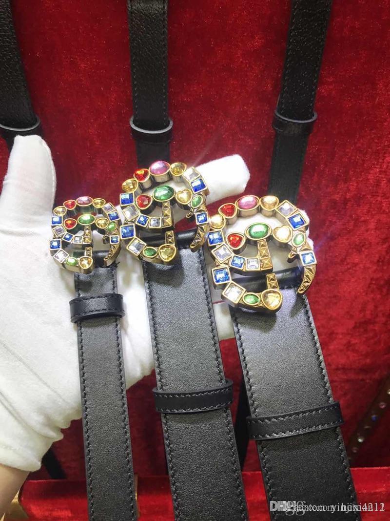 Avec la boîte de nouvelles ceintures de marque casual en cuir véritable de haute qualité homme femme marque de mode de boucle de ceinture bronzée 2.0 3.4 3.8 ceintures de gros