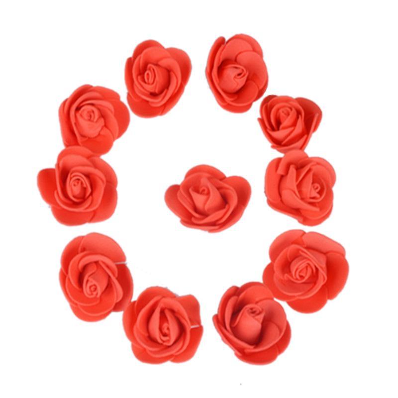500 шт./лот эти цветы используются для украшения Флорес искусственные декоративные розы голова Роза медведь свадебный дом искусственный цветок