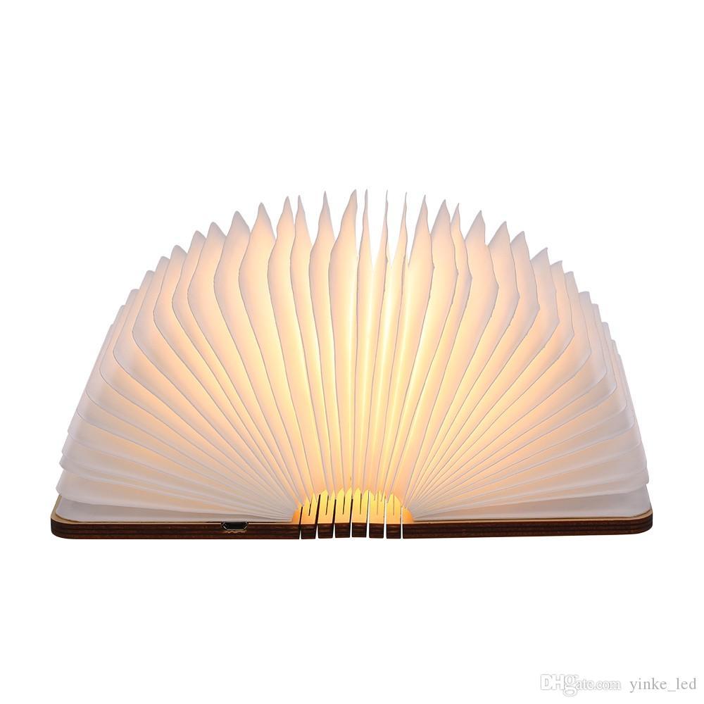 USB قابلة للشحن قابلة للطي كتاب ضوء مكتب الجدول مصباح السرير الدافئة الأبيض ديكور غرفة النوم إضاءة الصمام أضواء الليل