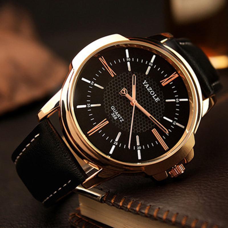 Rose Gold relógio de pulso Men Automatic 2018 Top Famoso Masculino Relógio Quartz Relógio dourado Relógio de pulso de quartzo -Watch Relogio Masculino
