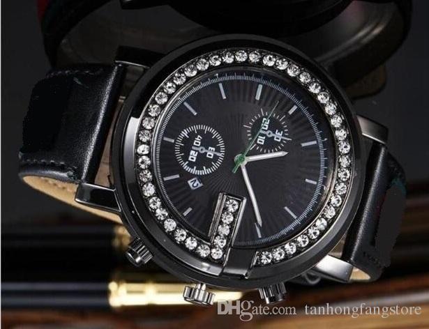 2019 선물 뜨거운 다이아몬드 일일 디자이너 시계 남성과 여성의 고급 패션 제품은 남성을위한 새로운 강철 시계 쿼츠 시계