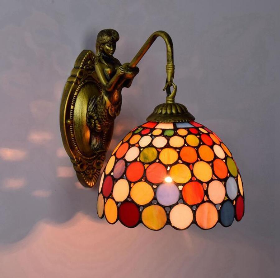 Dot parede Arte Luzes LED Strip Quarto Lava Lamp Yeelight Room Decor Wall Lamp Ups frete grátis Night Light Bronze Mermaid Lâmpada de parede