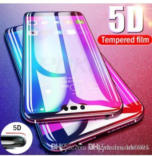 Wholesale NEW Proelio 5D Round Curved Full Cover Tempered Glass For Huawei P20 Pro P20 Lite Screen Protector Film Glass For P20 Lite Nova 3E