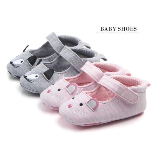 Toddler Newborn Baby Girl Floral Crib Shoes Soft Sole Pram Anti-slip Sneakers KW